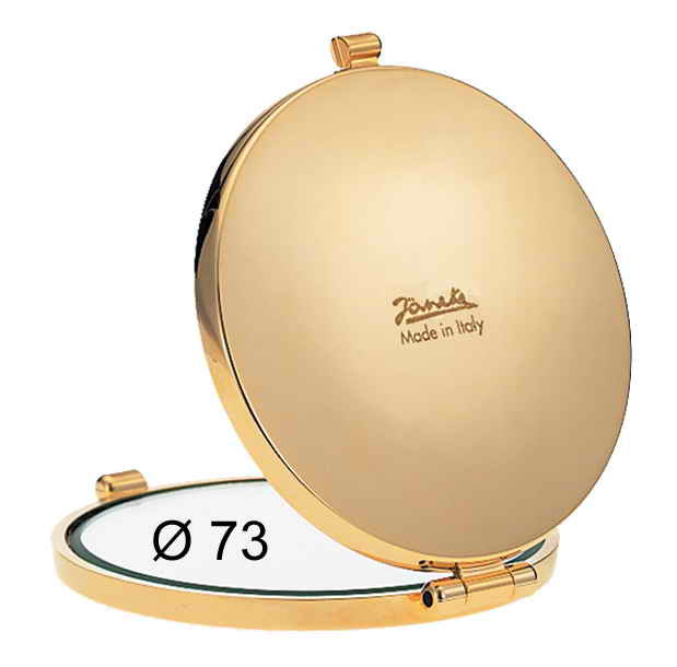 Golden handbag mirror Diameter 73 Magnification X3 Cod. AU448.3