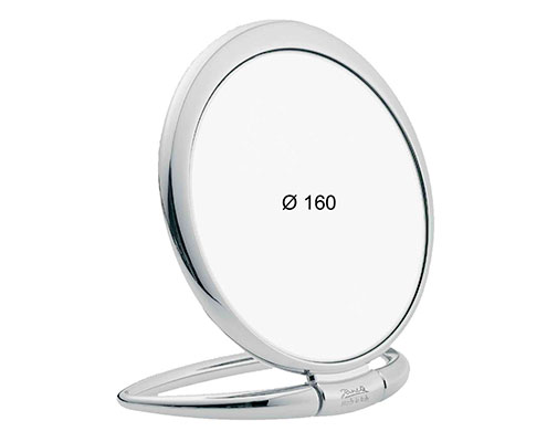 Chromium table mirror, Magnification X3, Diameter 170 Cod. CR443.3