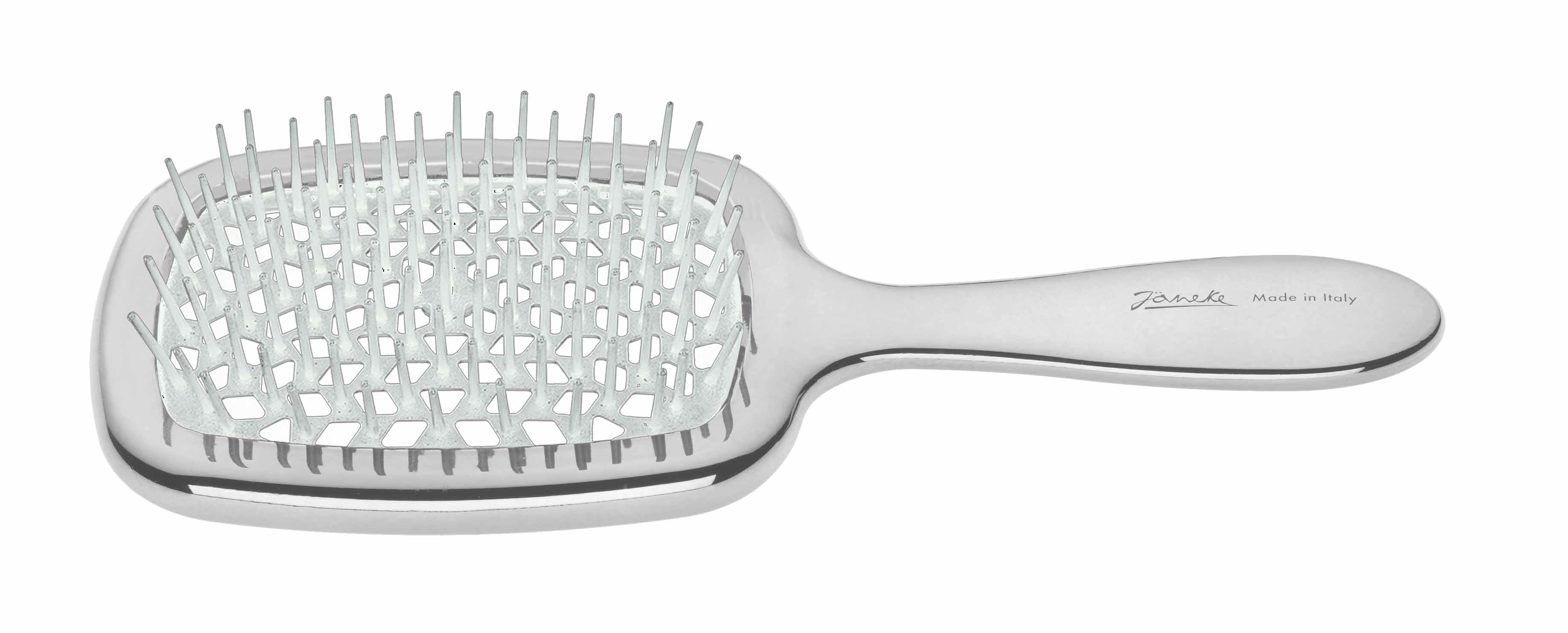 Chromium rectangular hairbrush