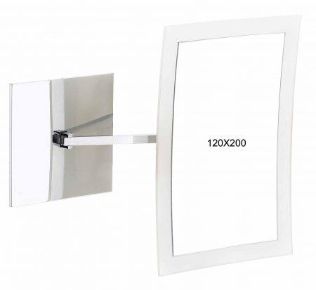 Зеркало туалетное настенное 120x200мм Код 190.01