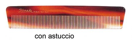 Мужская карманная расчёска в футляре имитация под черепаху Код 26114Tascabile uomo con astuccio imitazione tartaruga Cod. 26114