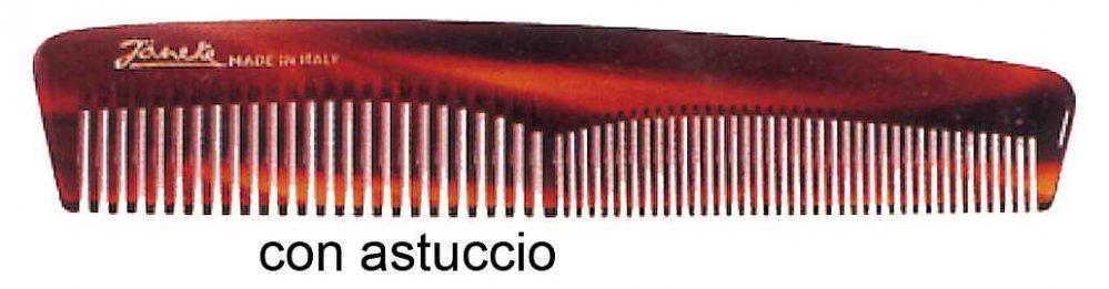 Imitation tortoise pocket comb with case Cod. 26136