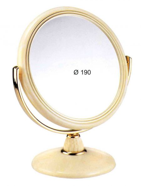 Table mirror horn immitation, Magnification X3, Diameter 190 Cod. 74496.3