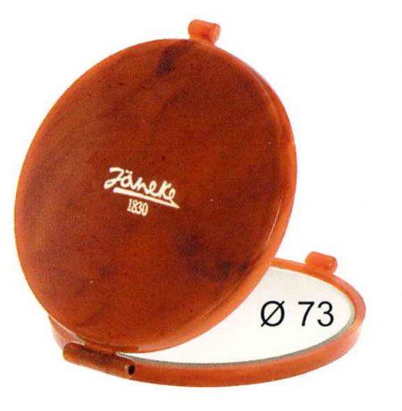 Зеркало для сумочки черепаховое Диаметр 73 Увеличение x6 Код 78448.6