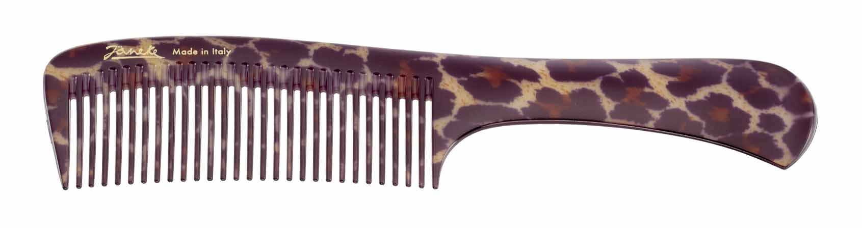 Spotted handle comb for hair colour application Cod. 80825V MAC