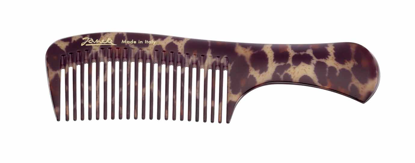 Spotted handle comb for hair colour application Cod. 80829V MAC