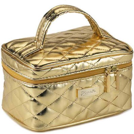 Quilted golden travel bag, small Cod. A1953VT