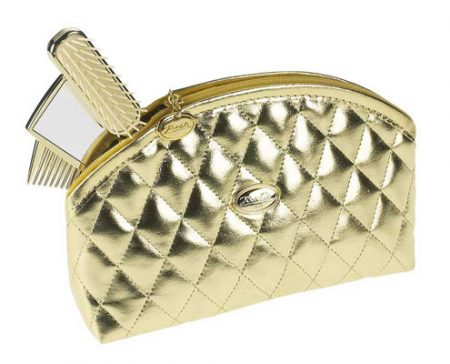 Golden quilted pouch, medium Cod. A1964
