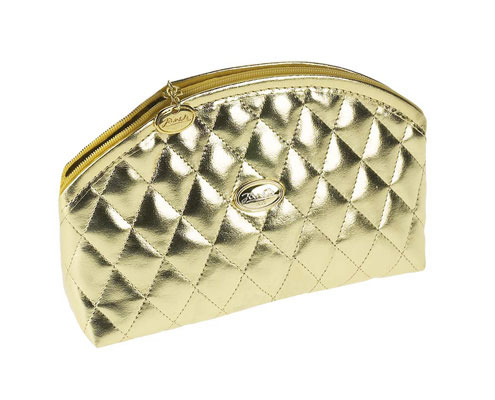 Golden quilted pouch, empty Cod. A1964VT