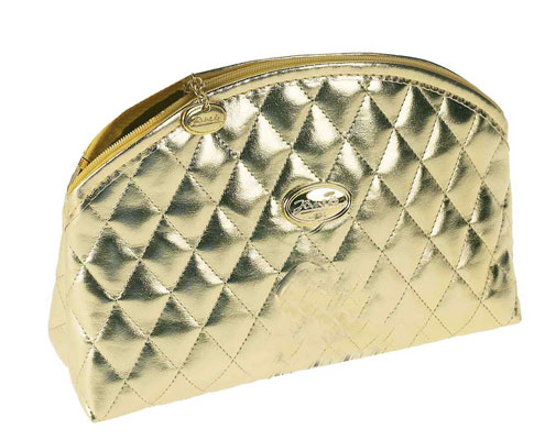 Golden quilted pouch, empty Cod. A1965VT