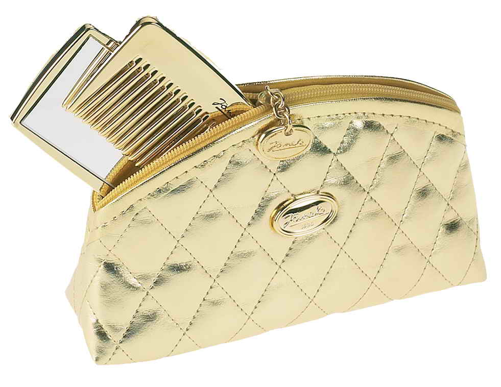 Golden quilted pouch, small Cod. A1992