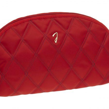 Косметичка нейлоновая стёганая большая красная пустая Код A3113VT ROS