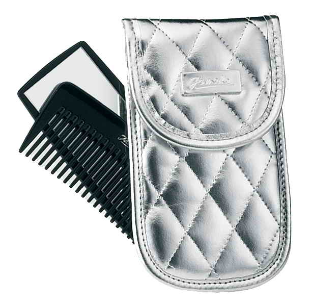 Silver quilted manicure- set comb and mirror Cod. A6101 ARG