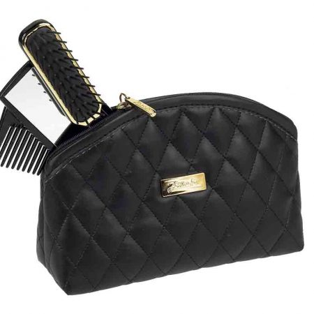Black quilted pouch, medium Cod. A6111 NER