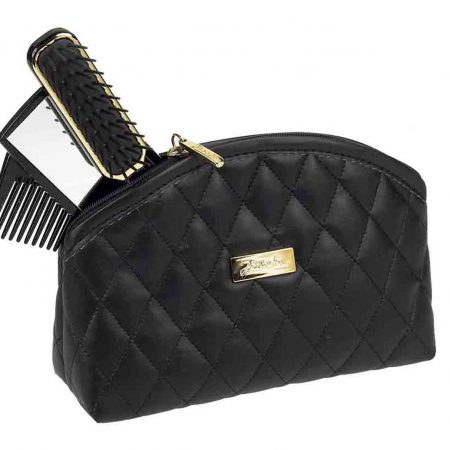Black quilted pouch, big Cod. A6112 NER
