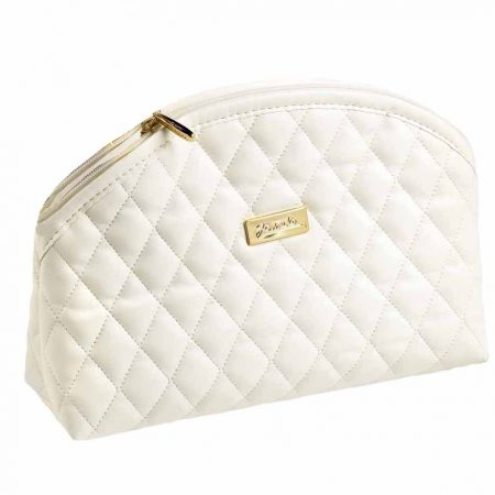 Beige quilted pouch, empty Cod. A6112VT BEI