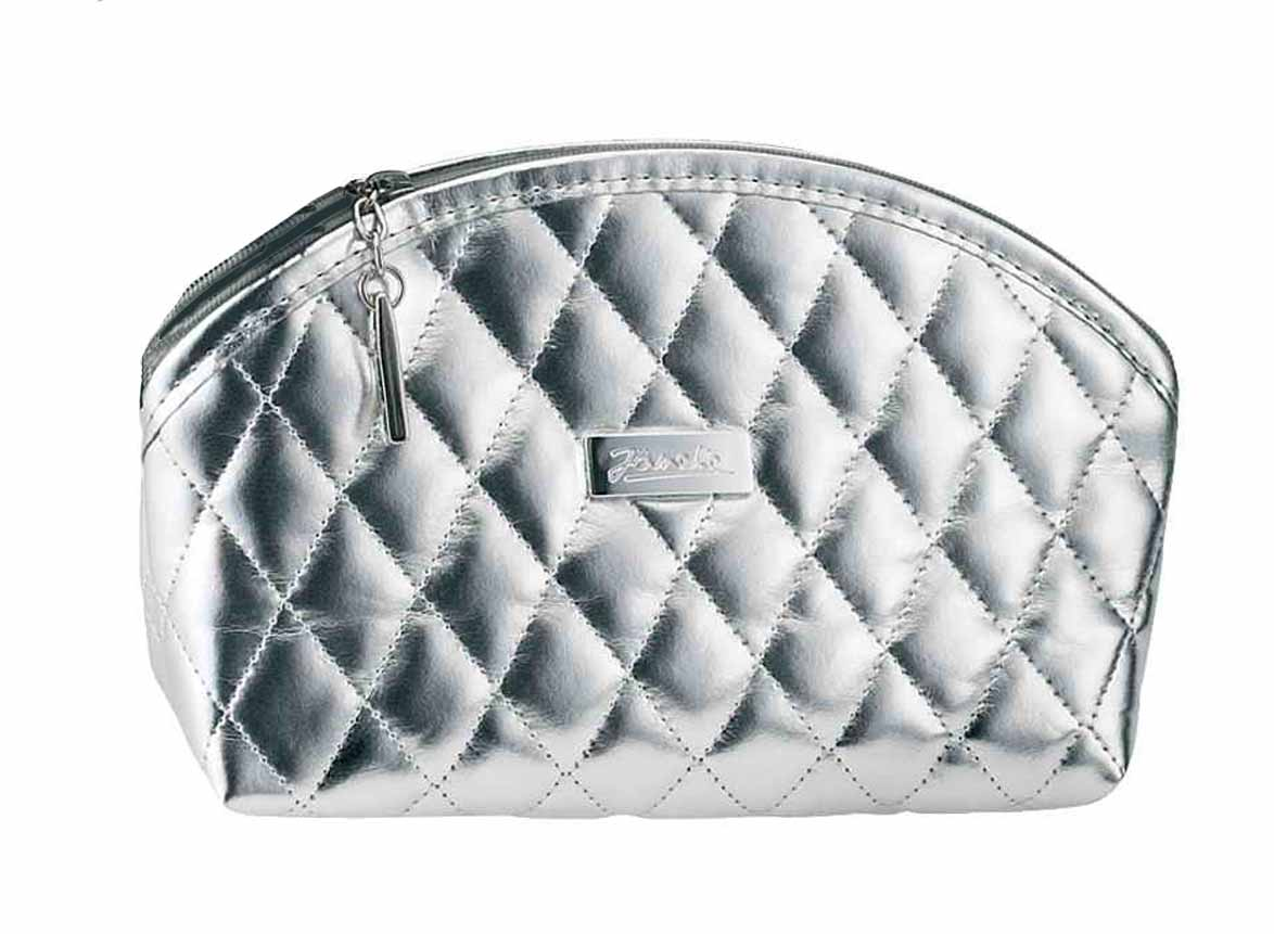 Silver quilted pouch, emptyCod. A6112VT ARG