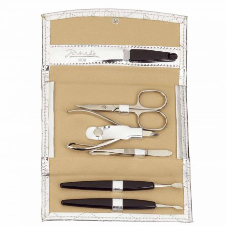 Silver quilted manicure-set, medium Cod. A6124 ARG