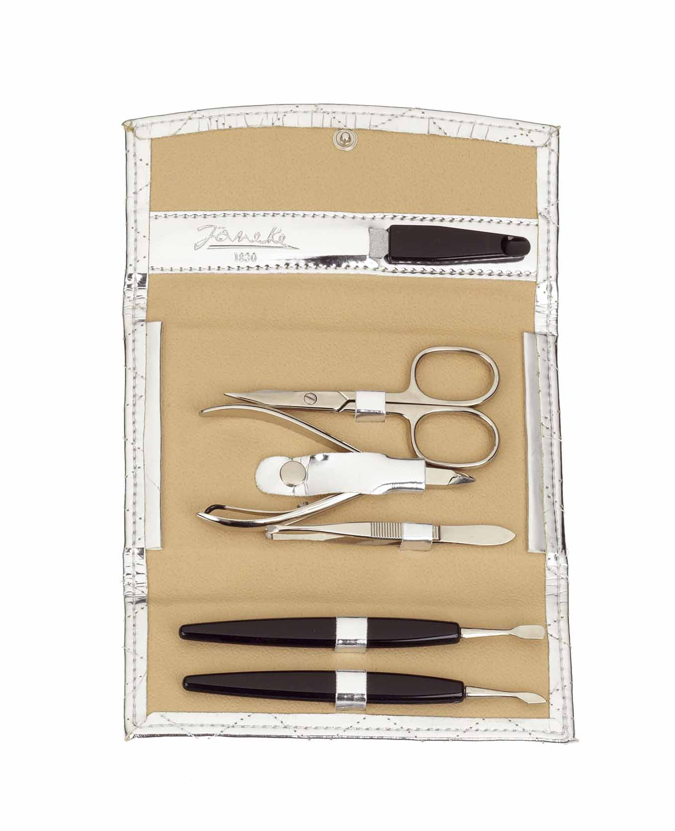 Silver quilted manicure-set, big Cod. A6125 ARG