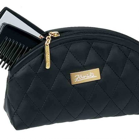 Black quilted pouch, small Cod. A6160 NER