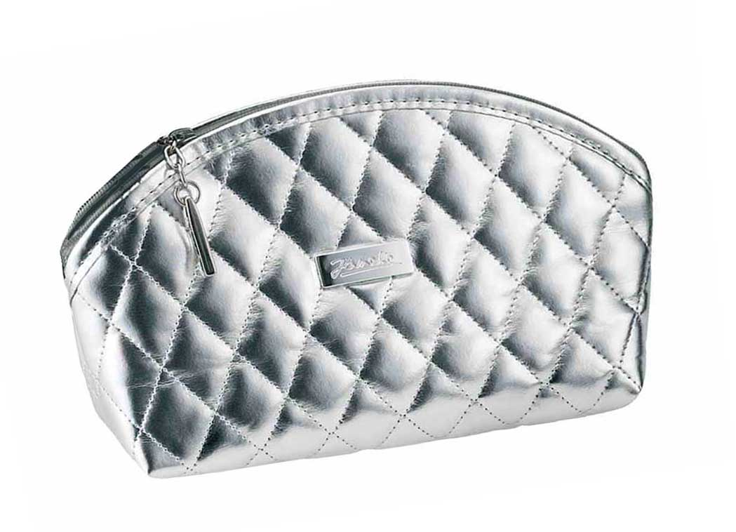 Silver quilted pouch, small empty Cod. A6160VT-ARG
