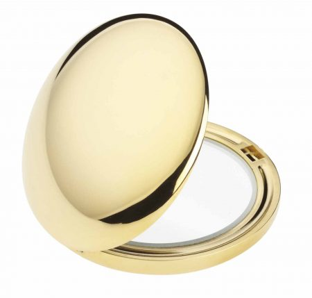 Golden handbag mirror Diameter 50 Cod. AU402