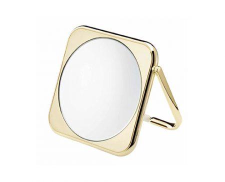 Golden square table mirror, Magnification X3, Diameter 190 Cod. AU425.3