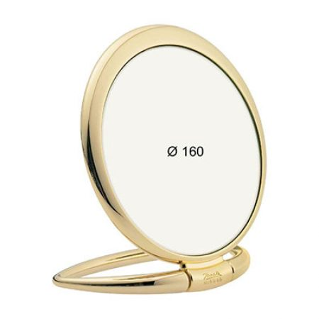 Golden table mirror, Magnification X3, Diameter 170 Cod. AU443.3