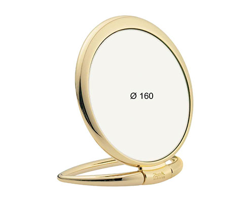 Golden table mirror, Magnification X6, Diameter 170 Cod. AU443.6