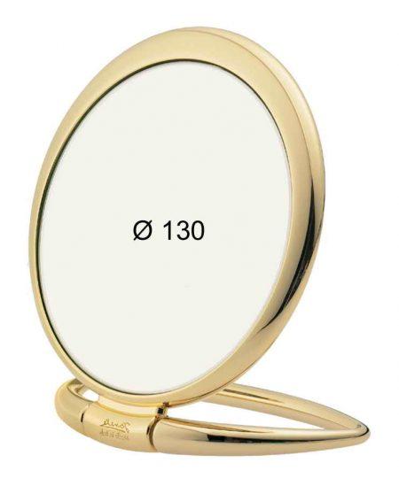 Golden table mirror, magnfication X3, Diameter 130 Cod. AU444.3