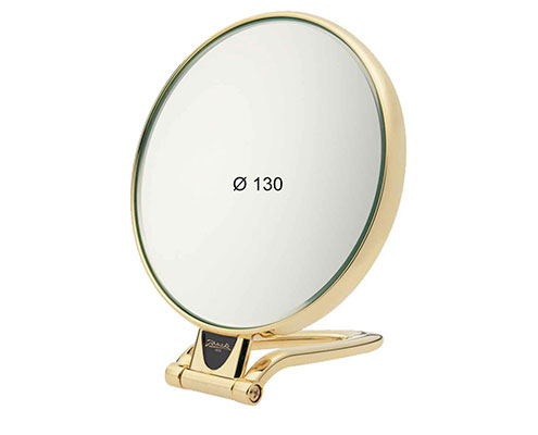 Golden table mirror, Magnification X3, Diameter 130 Cod. AU446.3