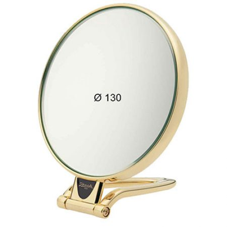 Golden table mirror, Magnification X6, Diameter 130 Cod. AU446.6