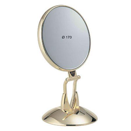 Зеркало настольное позолоченное c подставкой Диаметр 170 Увеличение x6 Код AU447.6 SU