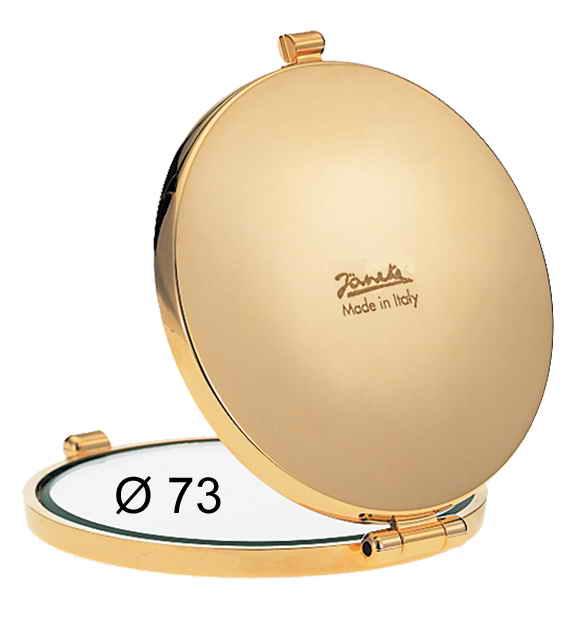 Зеркало для сумочки позолоченное Диаметр 73 Увеличение x6 Код AU448.6