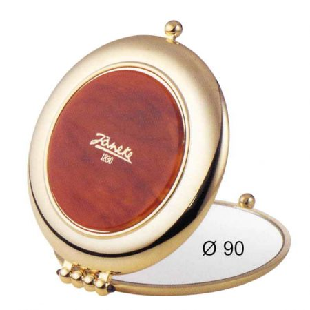 Tortoise-shell colour and gold mirror, Magnification x 6, Diameter 90 Cod.AU453.6 DBL