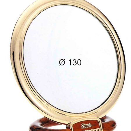 Tortoise and gold table mirror, Magnification X3, Diameter 130 Cod. AU466.3 DBL