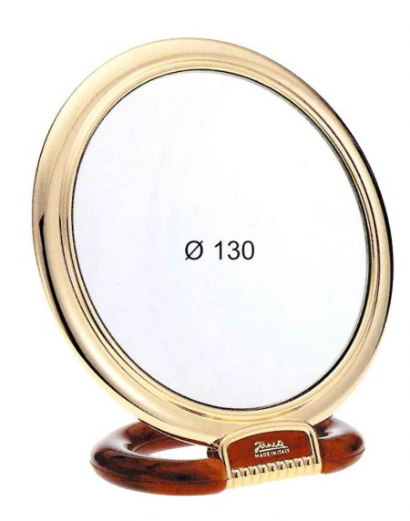 Tortoise and gold table mirror, Magnification X3, Diameter 130 Cod.AU466.3 DBL