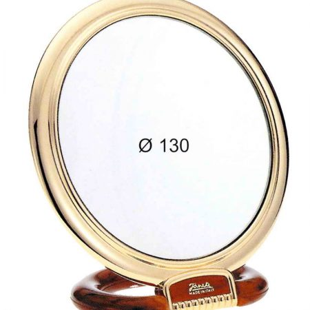 Tortoise and gold table mirror, Magnification X6, Diameter 130 Cod. AU466.6 DBL