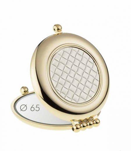 Зеркало для сумочки позолоченное Увеличение x3 Диаметр 65 Код AU484.3T1