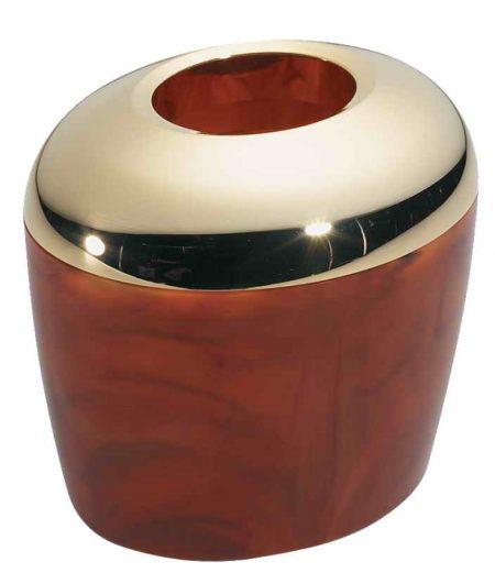 Подставка-накопитель для ватных дисков золотисто-черепаховая Код AU535 DBL