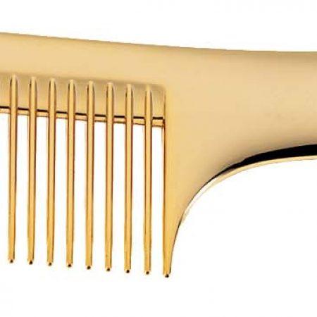 Расчёска золотистая с ручкой Код AU825