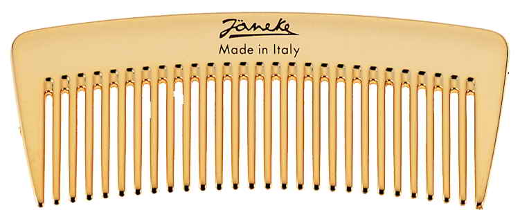 Golden wide-teeth styling comb Cod. AU824