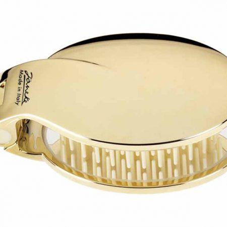 Щётка складная золотистая с зеркалом 70x50 Код AUSP03