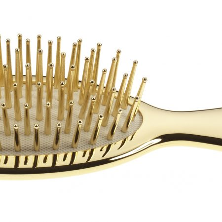 Golden pneumatic brush, small, with gold pins Cod. AUSP21 G