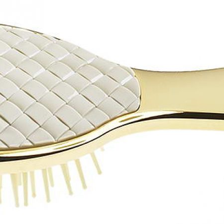 Small golden hair-brush with quilted element Cod. AUSP231T1