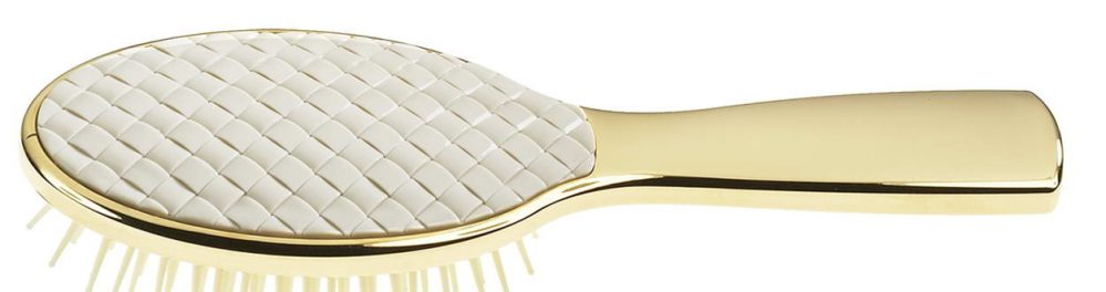 Golden hair-brush with quilted element Cod. AUSP232T1