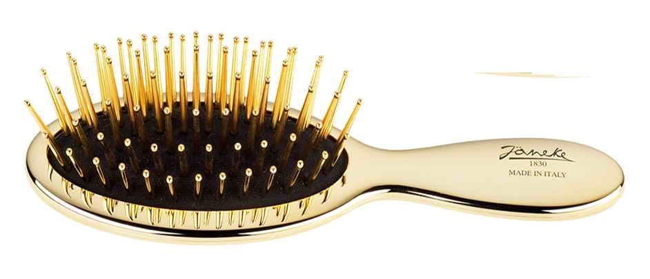 Щётка-малыш массажная золотистая с золотистыми зубьями Код AUSP24 G