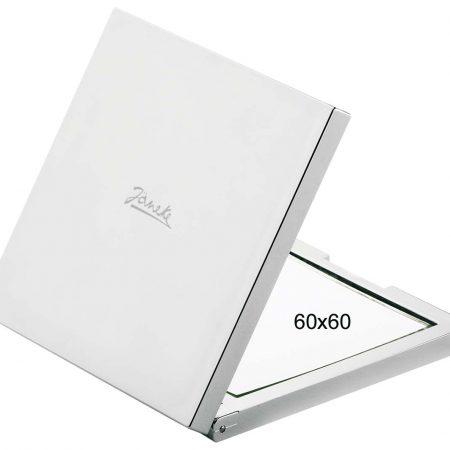 Chromium square handbag mirror, Magnification X3, 60X60 Cod.CR400.3