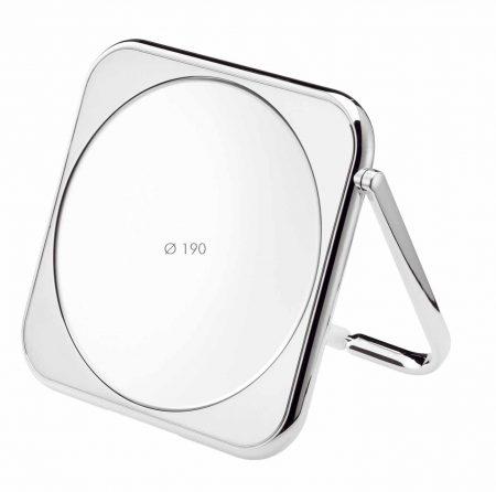 Chromium square table mirror, Magnification X3, Diameter 190 Cod. CR425.3