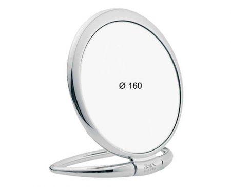 Chromium table mirror, Magnification X6, Diameter 170 Cod. CR443.6